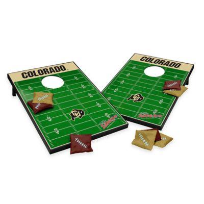 NCAA University of Colorado Field Tailgate Toss Cornhole Game