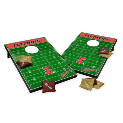 Wild Sports University of Illinois Field Tailgate Toss Cornhole Game