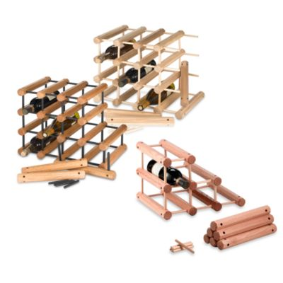 J.K. Adams 40-Bottle Wine Rack in Black