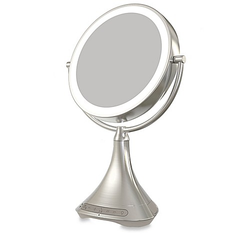 IHome 1X 7X Portable Double Sided 9 Inch Vanity Mirror