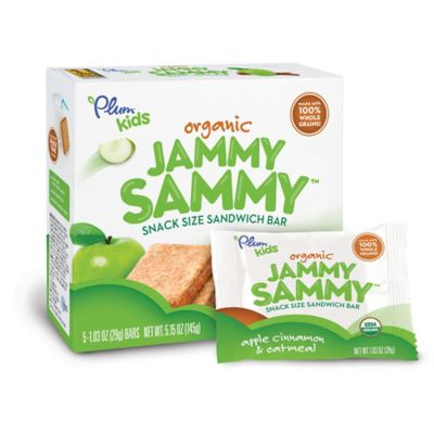 Food > Plum Organics™ Kids Jammy Sammy 5-Pack Apple Cinnamon & Oatmeal Sandwich Bar