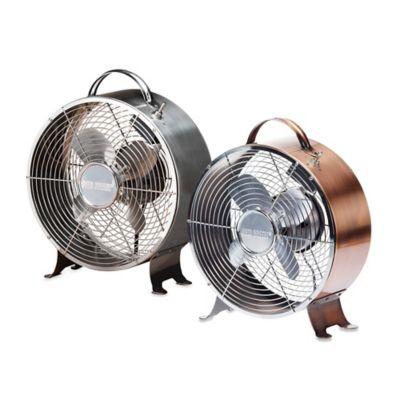 Deco Breeze® 12-Inch Retro Table Fan in Stainless Steel