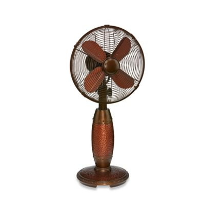 10-Inch Rhythm Table Fan in Brown
