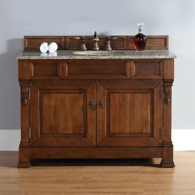 James Martin Furniture 48-Inch Single Vanity with Santa Cecilia Stone Top in Country Oak
