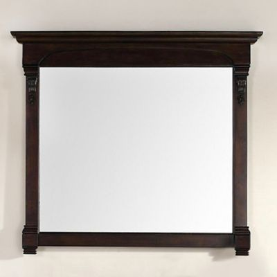 James Martin Furniture Brookfield 47.25-Inch Mirror in Burnished Mahogany