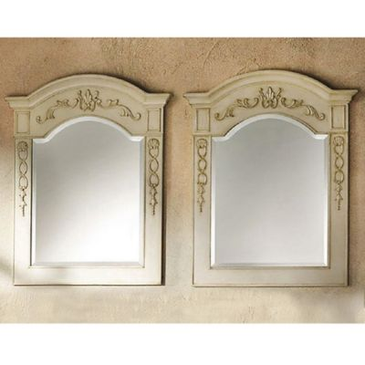 James Martin Furniture Naples 32-Inch Mirrors in Antique White (Set of 2)