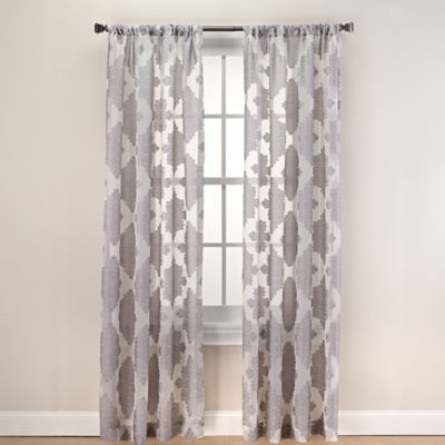 Felicity 63-Inch Rod Pocket Sheer Window Curtain Panel in Spa