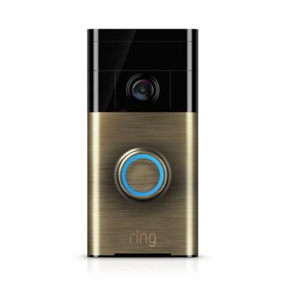 Ring Video Doorbell in Antique Brass