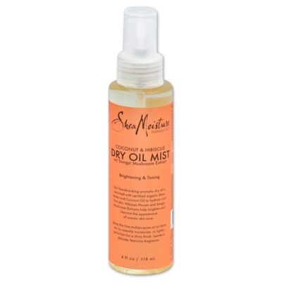 Shea Moisture 4 oz. Coconut and Hibiscus Brightening and Toning Dry Oil Mist