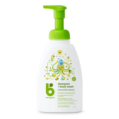 Babyganics® 16 oz. Foaming Shampoo + Body Wash Chamomile and Verbena