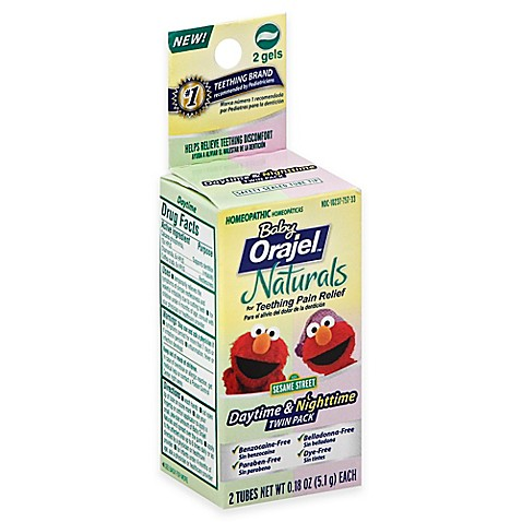 Buy Baby Orajel 174 Twin Pack Naturals Daytime And Nighttime