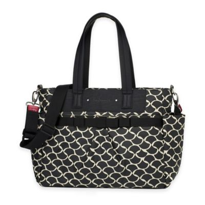 Storksak® Cara Diaper Bag in Black/White