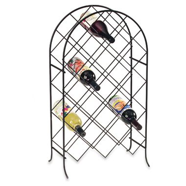21-Bottle Trellis Wine Rack