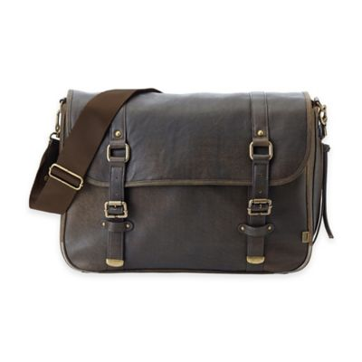 Oioi® Satchel Diaper Bag in Chocolate