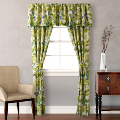 Tommy Bahama® Blue Palm Valance in Sea Glass