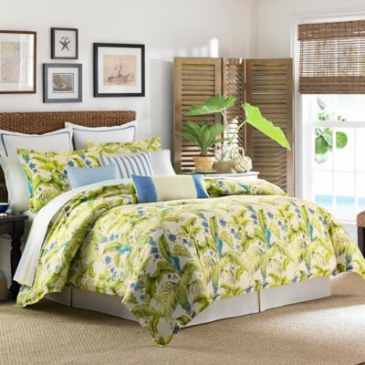 Tommy Bahama® Blue Palm Queen Comforter Set in Sea Glass