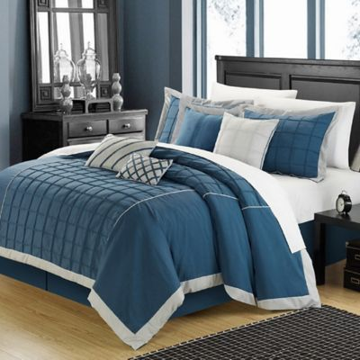 Chic Home Rebecca 12-Piece Queen Comforter Set in Teal