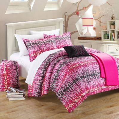 Chic Home Taika 9-Piece Full Comforter Set in Pink