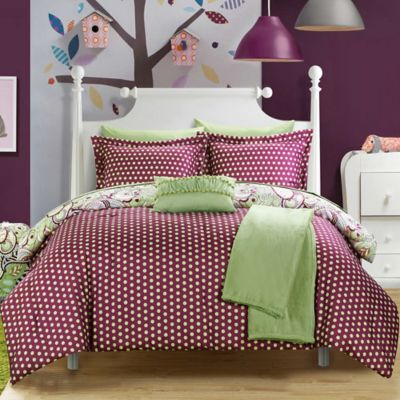 Chic Home Premier 8-Piece Twin Comforter Set in Green