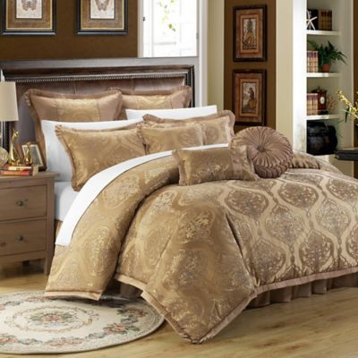Chic Home Ricci 9-Piece Queen Comforter Set in Gold