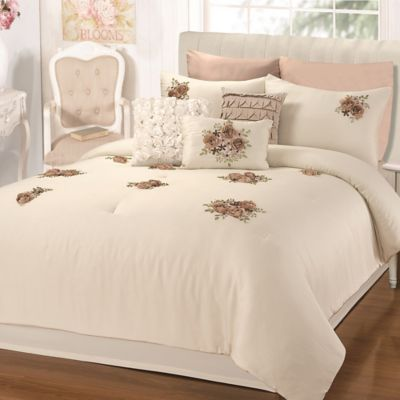 Chic Home Rossie 5-Piece Queen Comforter Set in Beige