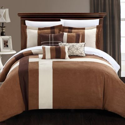 Chic Home Scarlette 7-Piece Queen Comforter Set in Brown