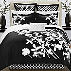 Chic Home Sire 11-Piece Reversible King Comforter Set in Black