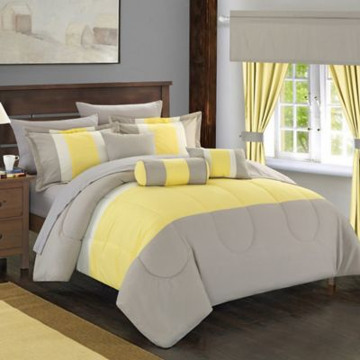 Chic Home Wanstead 20-Piece King Comforter Set in Yellow