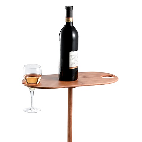 Portable Outdoor Bamboo Wine Table