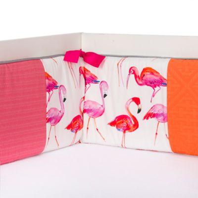 Pink Orange Crib Bumper