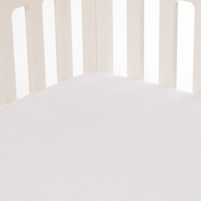 Glenna Jean Lilly & Flo Softee Fitted Crib Sheet in White