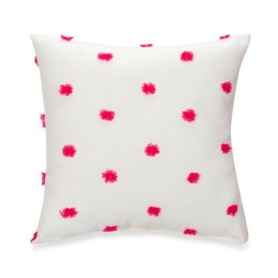 Glenna Jean Lilly & Flo Puff Throw Pillow in Pink/White