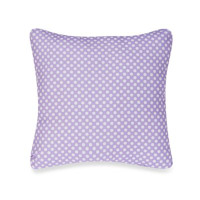 Glenna Jean Lilly & Flo Polka Dot Throw Pillow in Purple