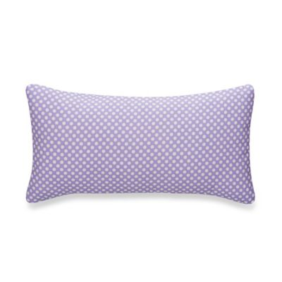 Glenna Jean Lilly & Flo Polka Dot Rectangular Throw Pillow in Purple