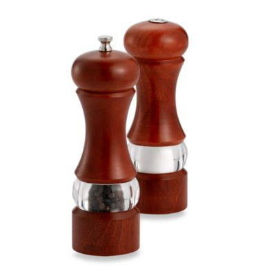 Acrylic And Wood Pepper Mill