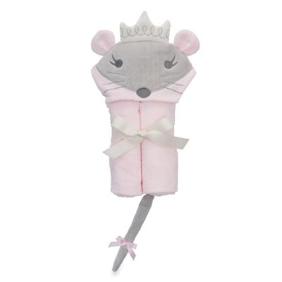 Elegant Baby® Mousie Princess Bath Wrap in Pink