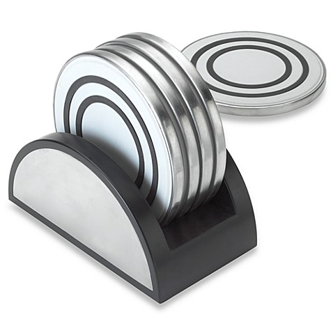 Kamenste in ® Stainless Steel 6-Piece Coaster Set