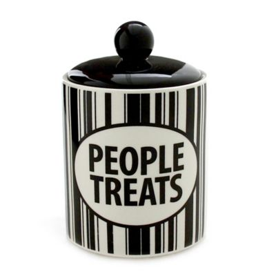 Our Name is Mud People Treats Canister in White/Black