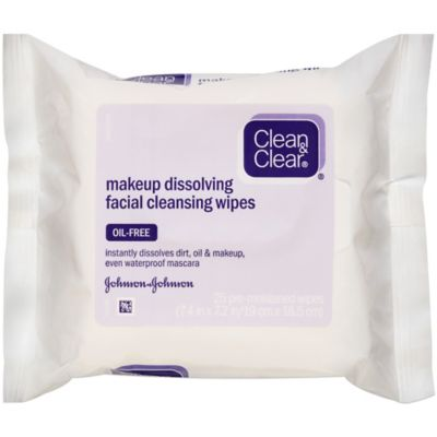 Clean and Clear® 25-Count Makeup Dissolving Facial Cleansing Wipes
