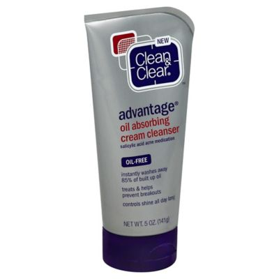 Clean and Clear® Advantage® 5 oz. Oil-Absorbing Cream Cleanser