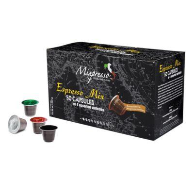 Mixpresso 50-Count Espresso Mix Nespresso® Compatible Coffee Capsules