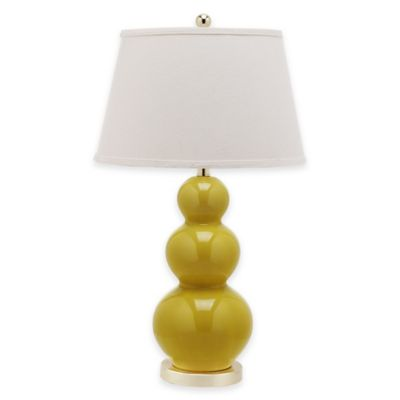 Mustard with Cotton Shade Lamps