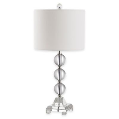 Safavieh Fiona 1-Light Crystal Table Lamp with Cotton Shade