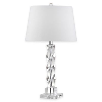 Safavieh Ice Palace 1-Light Crystal Twisted Table Lamp with Cotton Shade
