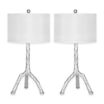 Silver White Table Lamp