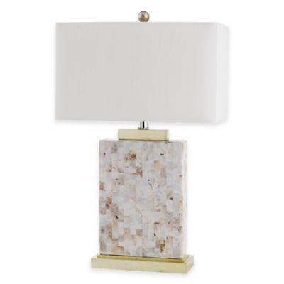 Safavieh Tory Shell Table Lamp with White Shade