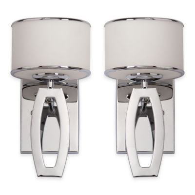 Safavieh Lenora Drum Sconces in Chrome (Set of 2)