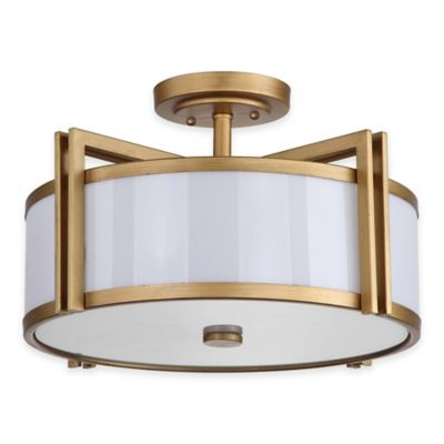 Safavieh Orb Ceiling Light in Antique Gold