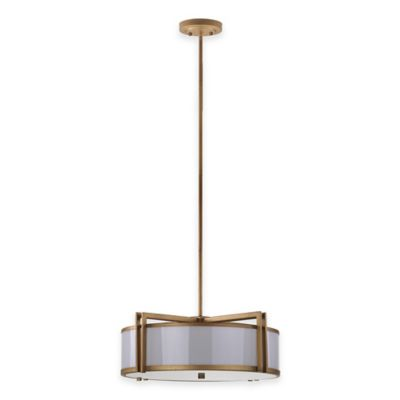 Safavieh Orb Drum Pendant Light in Antique Gold