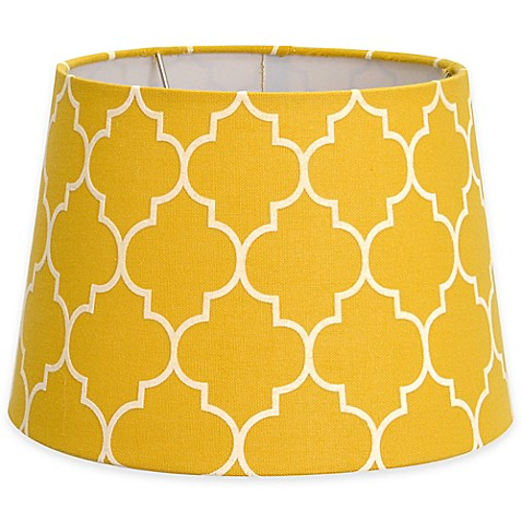 buy flocked linen small 7 inch lamp shade in yellow white. Black Bedroom Furniture Sets. Home Design Ideas